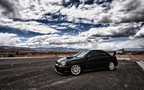 небо,  облака,  Subaru