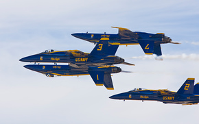 самолёт,  истребители-бомбардировщики,  пилотажная группа,  фигура