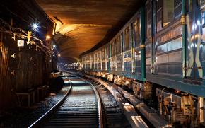 metro, treno, auto, Rails