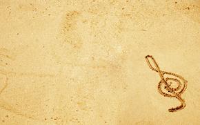 minimalismo, chiave, musica, sabbia, disegno