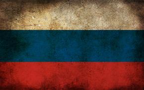 россия, флаг, грязь