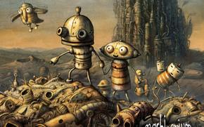 game, Robots, machinarium