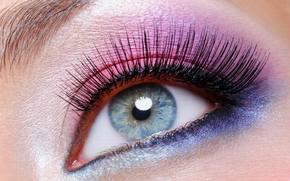 лицо,  голубой глаз,  бровь,  розовый,  синий,  фиолетовый,  макияж,  веки