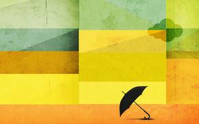 зонтик,  квадраты,  цвет