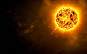 stella, fuoco, pianeta, Supernova