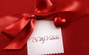 день святого валентина,  текст,  ткань,  надпись,  бант,  сердечко