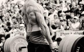мужчина,  силач,  штанга,  сила,  мышцы,  спина,  ч/б,  черно-белое