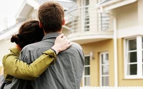 настроение,  пара,  любовь,  обьятия,  новый дом,  жилье,  семья