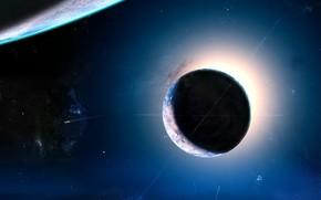 planet, light, Stars