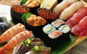 alimente, fel de mncare, fructe de mare, Rolls, caviar, pete, Crevet