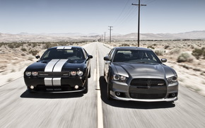Dodge, chelenzher, Charger, compartment, sedan, doroga.gorizont.gory, sky, Dodge
