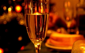 Champagne, goblet, holiday