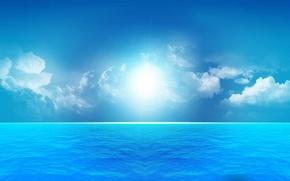 mare, cielo, nuvole