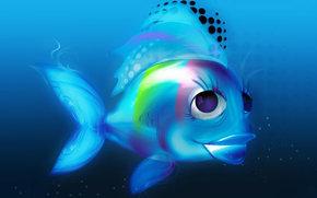 золотая рыбка, water, blue, настроение, детство