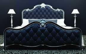letto, stile, Lampada, Cuscino, tappezzeria