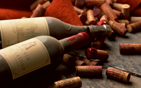vintage wines, Natural cork, still life