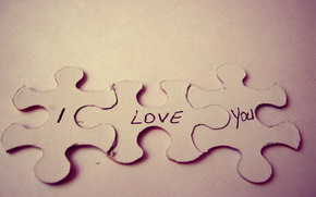 puzzles, text, love, background, macro