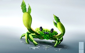 crab, of, vegetables, kreatifchik