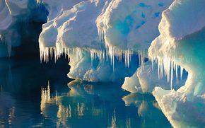 ghiaccio, ghiacciaio, iceberg, acqua