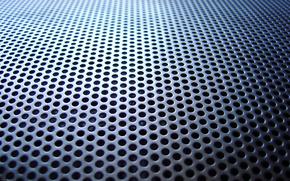 grid, iron, hole