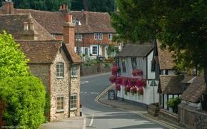Regno Unito, Inghilterra, contea, Kent, villaggio, case