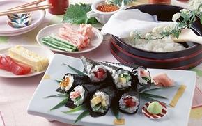 fel de mncare, orez, Wasabi, Japonez alimentar, caviar