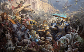 war, battle, empire, chaos, Magi, Warriors, Dwarves, Griffins, Orcs, Elves, Gretchin, castle, magic, assault, siege