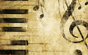 chiave di violino, Pianoforte, musica, Struttura
