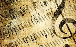 arte, sfondo, beige, Grunge, strumento, chiave, melodia, pagina di carta vecchia, retr, nero di seppia