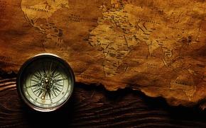 mappa, bussola, viaggio