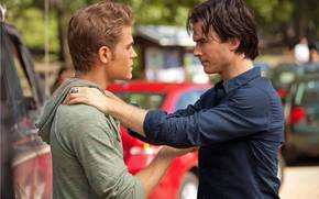 The Vampire Diaries, actor, Paul Wesley, Ian Somerhalder