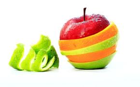 apple, color, peel