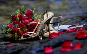 цветы,  букет,  розы,  романтика,  свадьба
