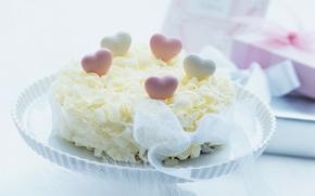 food, sweet, dessert, cake, Cake, cake, Hearts, delicacy, tape