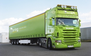 tractor, camion, verde, Fura, Alte marci