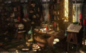 room, кабинет, Books