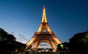 Paris, Eiffel Tower, evening