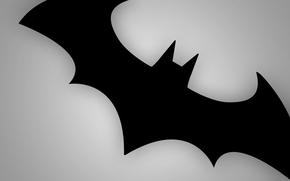 Batman, mouse, segno, emblema, grigio, nero