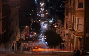 калифорния,  ночь,  огни