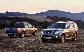 горы,  холм,  авто,  машина,  рассвет,  Nissan