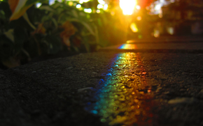 асфальт,  солнце,  свет,  радуга