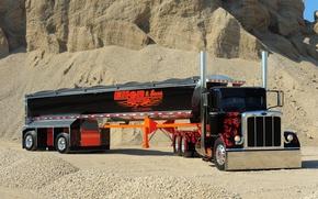 trailer, truck, Car, Canyon