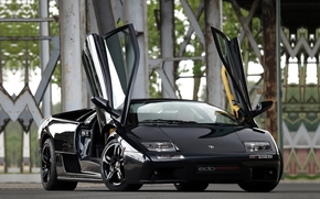 lamborgini, All, black, on, Beautiful, Background