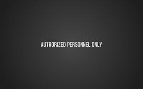 iscrizione, Solo il personale autorizzato