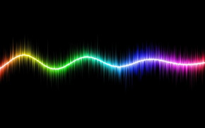 линия, полосы, цвет, спектр, сияние