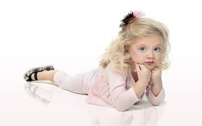 girl, child, goluboglazka