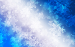 Snowflakes, radiance, Winter, blue