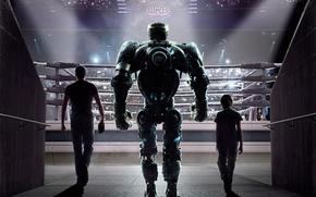 Live Steel, film, movie, robot, actors, Hugh Jackman, ring, podium
