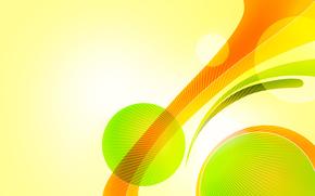 gruppi, giallo, verde, Succoso