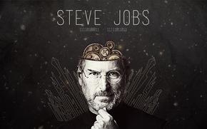 стив джобс,  стивен пол джобс,  великий человек,  гений,  новатор,  изобретатель,  голова,  механизмы,  годы жизни,  компьютерный язык